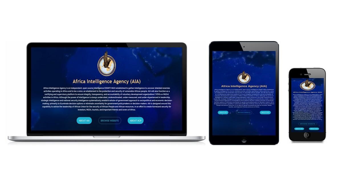 Africa Intelligence Agency Website Designed By Softdion Technology