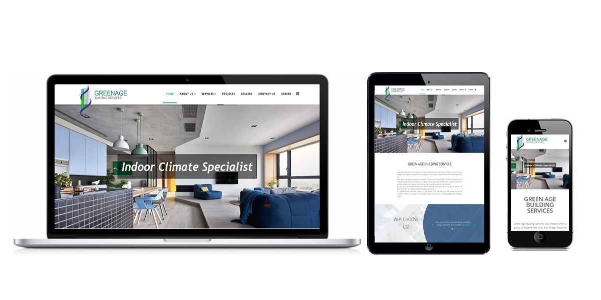 Green Age Building Services Website Designed By Softdion Technology