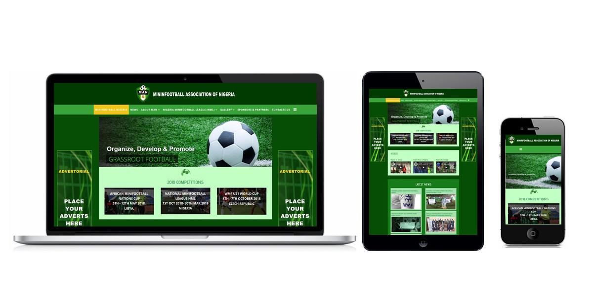 Minifootball Association Of Nigeria Website Designed By Softdion Technology