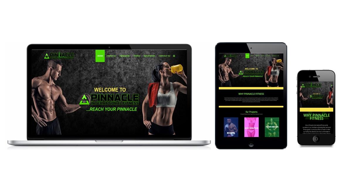 Pinnacle International Fitness Website Designed By Softdion Technology
