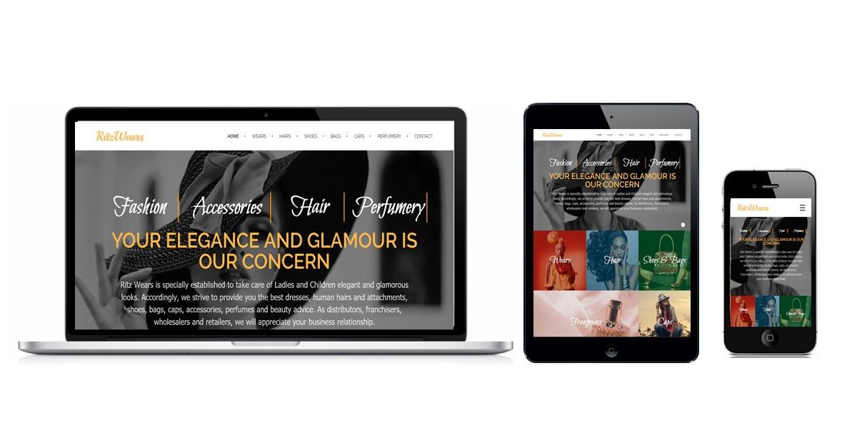 RitzWears Website Designed By Softdion Technology