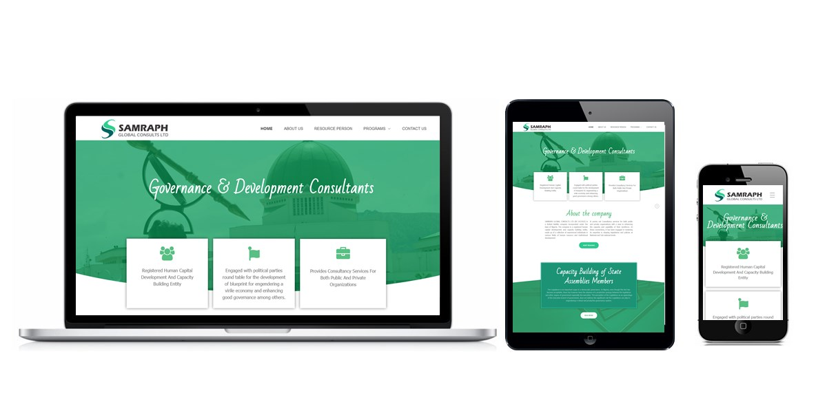 Samraph Global Consults Website Designed By Softdion Technology