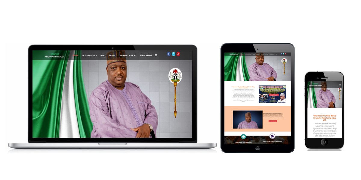 Senator Philip Tanimu Aduda Website Designed By Softdion Technology